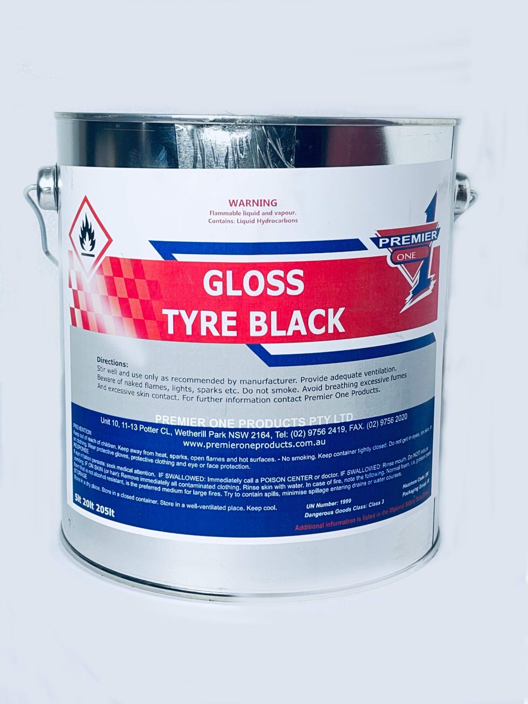 Black gloss tyre paint